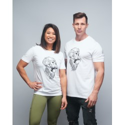 T-shirt unisexe blanc GORILLA OPS | VERY BAD WOD x WILL LENNART TATOO