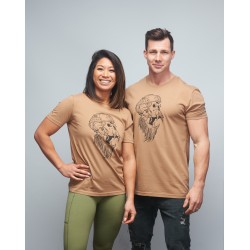 T-shirt unisexe camel GORILLA OPS | VERY BAD WOD x WILL LENNART TATOO