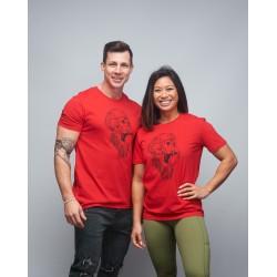 T-shirt unisexe rouge vif GORILLA OPS | VERY BAD WOD x WILL LENNART TATOO