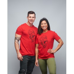 Unisex T-shirt red GORILLA OPS| VERY BAD WOD x WILL LENNART TATOO