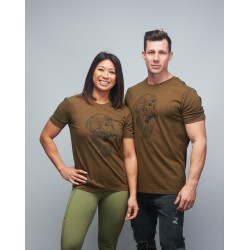 Unisex T-shirt green khaki GORILLA OPS| VERY BAD WOD x WILL LENNART TATOO