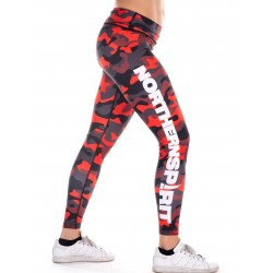 Legging Femme Rouge Camo NS pour CrossFiteuse - NORTHERN SPIRIT