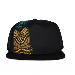 Black PINEAPPLE TIKI trucker hat | PROJECT X