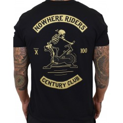 T-Shirt homme noir CENTURY CLUB NOWHERE RIDERS | PROJECT X