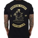 T-Shirt homme noir CENTURY CLUB NOWHERE RIDERS   PROJECT X