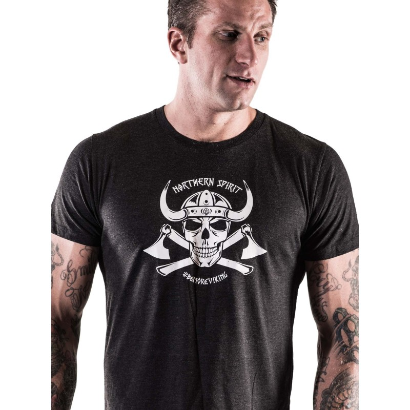 886b094c Men workout t-shirt NORTHERN SPIRIT black Viking model