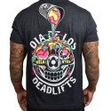 T-shirt black DIA DE LOS DEADLIFTS DECONSTRUCTED. for men | PROJECT X
