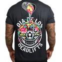 T-Shirt homme noir DIA DE LOS DEADLIFTS DECONSTRUCTED | PROJECT X