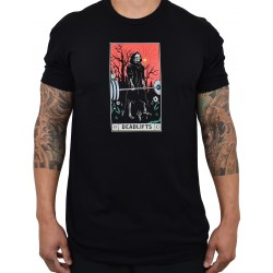 Training t-shirt black DEADLIFTS TAROT CARD for men | PROJECT X