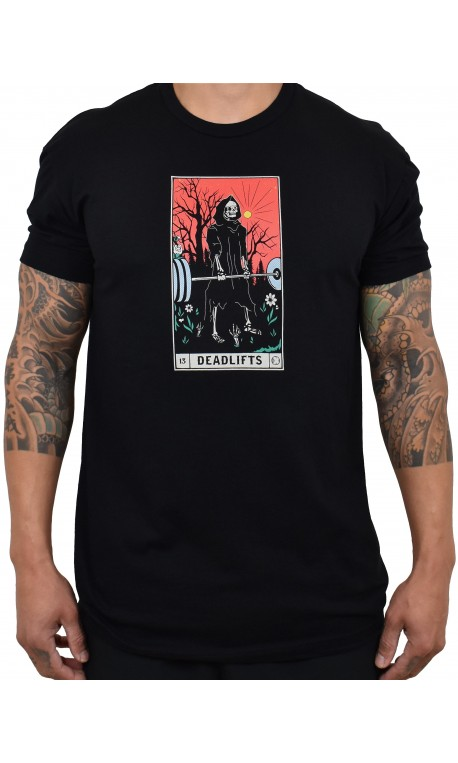 T-Shirt Homme noir DEADLIFTS TAROT CARD | PROJECT X