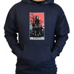 Training hoodie blue DEADLIFTS TAROT CARD for men | PROJECT X