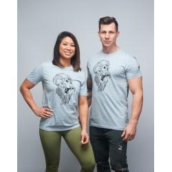 T-shirt unisexe bleu chiné GORILLA OPS | VERY BAD WOD x WILL LENNART TATOO