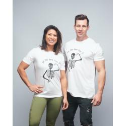 Unisex T-shirt white DO YOU EVEN FLEX| VERY BAD WOD x WILL LENNART TATOO