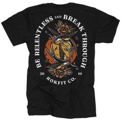 T-Shirt Man black BE RELENTLESS | ROKFIT