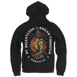 Zip hoodie black BE RELENTLESS | ROKFIT