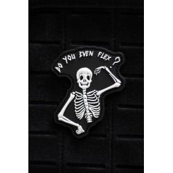 Patch PVC 3D velcro noir DO YOU EVEN FLEX pour athlète | VERY BAD WOD