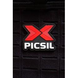 PICSIL logo 3D PVC velcro patch for athlete | PICSIL