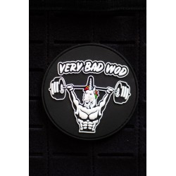 UNICORN SOLDIER black 3D PVC velcro patch for athlete | VERY BAD WOD