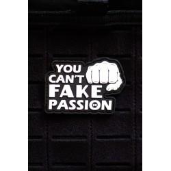 Patch PVC 3D velcro YOU CAN'T FAKE YOUR PASSION pour athlète | PICSIL