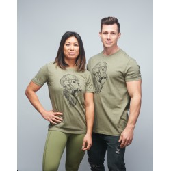 Unisex T-shirt heather green GORILLA OPS| VERY BAD WOD x WILL LENNART TATOO
