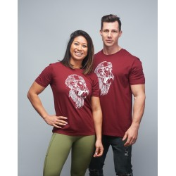 Unisex T-shirt burgundy GORILLA OPS| VERY BAD WOD x WILL LENNART TATOO