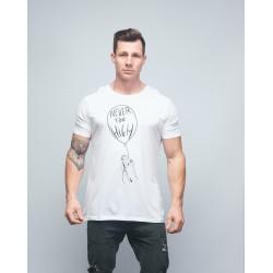 T-shirt unisexe blanc NEVER TOO HIGH | VERY BAD WOD x WILL LENNART TATOO