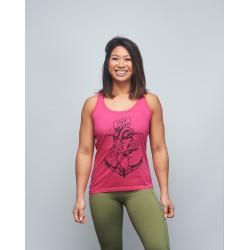 Training tank fuchsia pink INK YOUR WOD for women | VERY BAD WOD x WILL LENNART TATOO