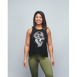 Training crop tank black GORILLA OPS for women | VERY BAD WOD x WILL LENNART TATOO