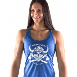 Boutique Débardeur bleu Femme Crossfit - white viking
