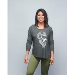 T-shirt manches 3/4 Femme gris GORILLA OPS | VERY BAD WOD x WILL LENNART TATOO