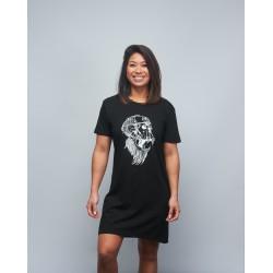 Woman's black T-shirt dress GORILLA OPS | VERY BAD WOD x WILL LENNART TATOO
