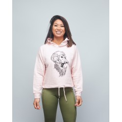 Sweat crop capuche femme rose INK YOUR WOD | VERY BAD WOD x WILL LENNART TATOO