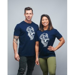 Unisex T-shirt navy blue GORILLA OPS| VERY BAD WOD x WILL LENNART TATOO