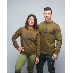 Sweat-shirt unisexe gris GORILLA OPS by VERY BAD WOD