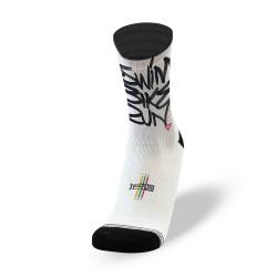 Endurance socks SWIM BIKE RUN White  LITHE APPAREL