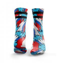 Workout Fresh Prince 2Stripe red and blue – HEXXEE SOCKS