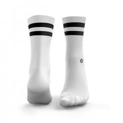 White 2Stripe Socks | HEXXEE SOCKS
