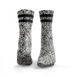 Socks workout Butterfly Print with Zebra Print – HEXXEE SOCKS