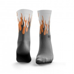 Workout Socks HOT RODS Orange and grey | HEXXEE SOCKS