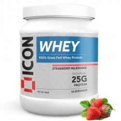 Whey Protéines STRAWBERRY MILKSHAKE - 960 Gr | ICON NUTRITION