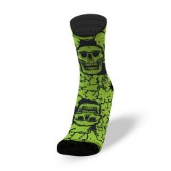 Endurance socks BLACK FLUID green   LITHE APPAREL