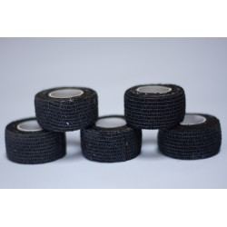 Pack de 5 Finger Tape Noir 2.5 mm x 4.5 m Taille unique