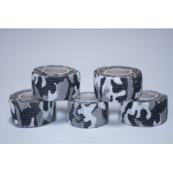 Pack de 5 Finger Tape protection doigts Gris camo 2.5 mm x 4.5 m pour Athlète by TD