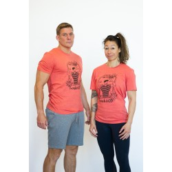 Unisex T-shirt mid heather red FRENCH WOD| VERY BAD WOD x WILL LENNART TATOO