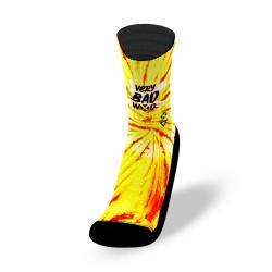 Yellow workout socks TIE DIE HOT | VERY BAD WOD
