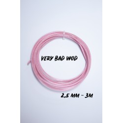 Pink cable 2.5 mm - 3 m | VERY BAD WOD
