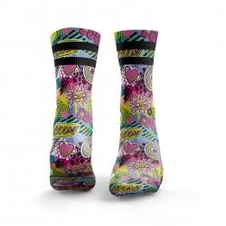 Workout socks GRAFFITI MASHUP 2STRIPE – HEXXEE SOCKS