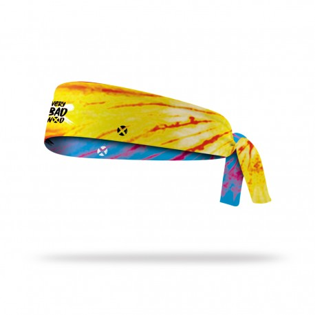 Reversible workout tie headband TIE AND DYE   VERY BAD WOD