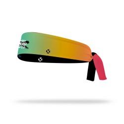 Reversible workout tie headband RASTA WOD | VERY BAD WOD