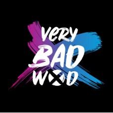 T-shirt 3/4 black and white Brush Original  VERY BAD WOD